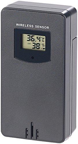 infactory Zubehör zu Thermometer mit App: Funk-Außensensor für FWS-350.bt & FWS-330.bt, IPX4, 60 m Reichweite (Thermo-Hygrometer Datenlogger)