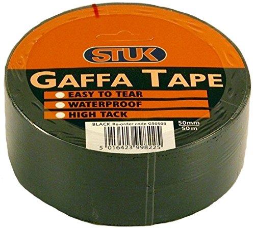 STUK G5050B 50mm x 50m Gaffa Tape Klebeband, Schwarz