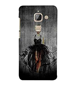 For LeEco Le 2s :: Letv 2S :: Letv 2 beautiful girl ( cute girl, nice girl, beautiful girl, girl, grey background ) Printed Designer Back Case Cover By FashionCops