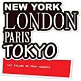 jollify Pegatina - LAS PALMAS DE GRAN CANARIA - 10cm - diseño: New York, LONDON, París, TOKYO