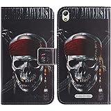 TienJueShi Skull Fashion Style Book Stand Flip PU Leather