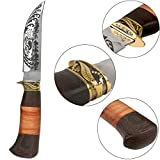 Columbia feststehendes Jagdmesser aus rostfreiem Edelstahl mit Tasche, Outdoor-Messer (FBI855)