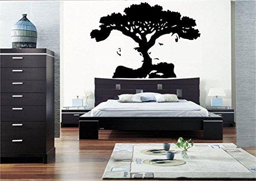Tiger Affe Baum Illusion ART Wand Aufkleber Aufkleber Wandbild Schlafzimmer Vinyl Schablone Wand Illusion
