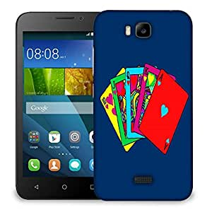 Snoogg Colorful Cards Designer Protective Back Case Cover For HUAWEI HONOR 7