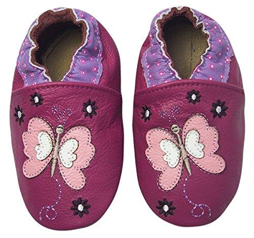 Rose & Chocolat Chaussures Bébé Butterfly Violet Taille 20/21 CM 6-12 Mois