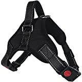 Lantra Besa Hochwertige Hundegeschirr Harness Weste für Kleine / Mittlere / Große Hunde - Verstellbar Reflektierend und Gepolstert Typ 1 - Schwarz, S