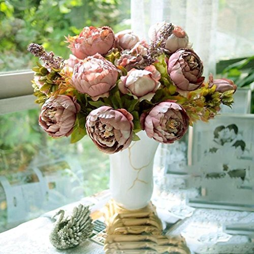 GODHL artificiale peonia seta Bouquet di fiori a casa di festa di nozze Bouquet decorazione Cameo