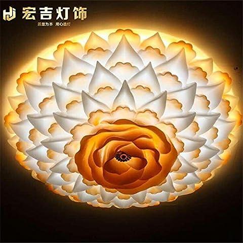 FUMIMID-Fiore di LED soffitto luce alla moda orientale Mediterraneo giardino arte moderna sala da pranzo camera da letto camera bambini dopo ingegneria lampade , A