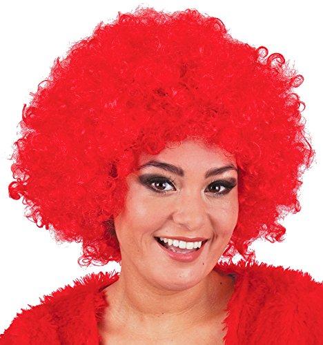 Afro Perücke Jayda - Locken zum Party Kostüm Clown Hippie - Rot