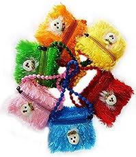 Kabello Multipurpose Multicolour Fabric Bag for Pen, Pencil, Medicine - Pack of 6