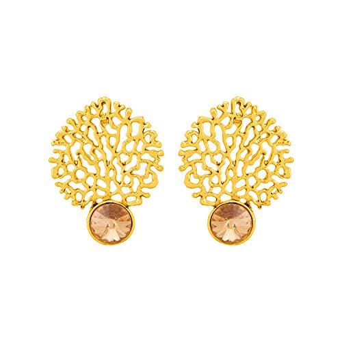 Voylla Gold Plated Stud Earrings for Women (8907617434704)