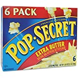 Microwave Popcorn, Extra Butter, 3.5 oz Bags, 6 Bags/Box, Sold as 1 Box