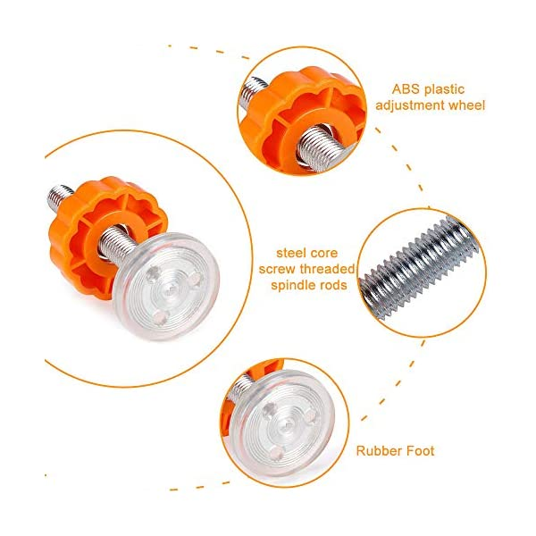 PERFETSELL 4 Pack Pressure Baby Gates Threaded Spindle Rods M10(10mm) Walk Thru Gates Accessory Screw Bolts Kit Fitting for Pressure Mounted Baby Safety Gates/Pet Safety Gates/Stair Gates(Orange) PERFETSELL 【Package Included】: Package included total 4 pack threaded Spindle Rods .Size:diameter M10 (10mm), length 80mm ,fit for all pressure mounted baby gates or pet gates.4 pack threaded spindle rods replacement, bring your old gate back into use,save you from buying a new gate. 【High Quality】:Our threaded spindle rods with steel core screw & ABS plastic, durable and reusable.Solid material that won't crack with pressure, help to make the banister gate fit snug and sturdy, so as to ensure safety of the kids or pets. 【Protection & Stability】:Make your baby gates more stable and do not failing over. Great way to protect the wall or your stair banisters. Rubber ends to protect your staircase from being scratched.Work great as replacement wall grips for our gate.(Do not use it at the top of the stairs.) 3