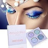 OYOTRIC 4 Couleurs Rainbow Diamond Pressé Glitters Ombres à Paupières Palette Shimmer Ombre à Paupières