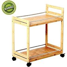 Mesa camarera de bambú