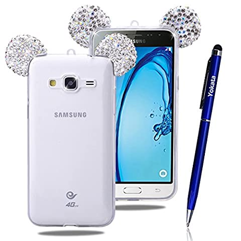 Samsung Galaxy J3 / J310 Strass Hülle, Yokata Weiche TPU