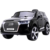 RunRunToys - Coche Audi Q7 Eléctrico 12V para niños +3 años con dos plazas con radio fm y control remoto (Herrajes Multimec 4015)
