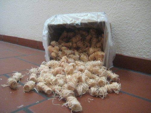 Preisvergleich Produktbild 5kg Bioanzünder Kaminanzünder bis zu 400Stück Holzwolle