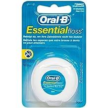 Oral-B Essential Floss - Seda dental sin cera, menta, 50metros, pack de 4