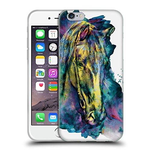 Offizielle Riza Peker Pferd Tiere Soft Gel Hülle für Apple iPhone 6 / 6s