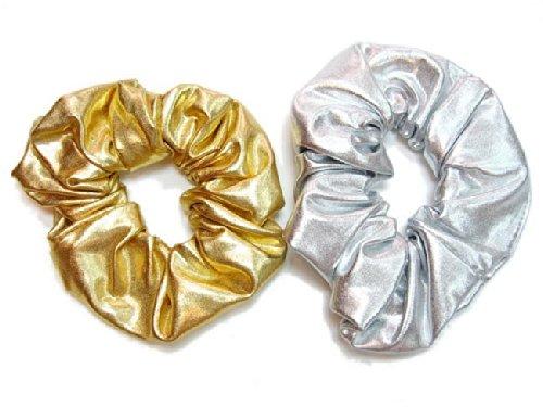 rougecaramel - Accessoires cheveux - Chouchou cheveux brillant lot de 2pcs
