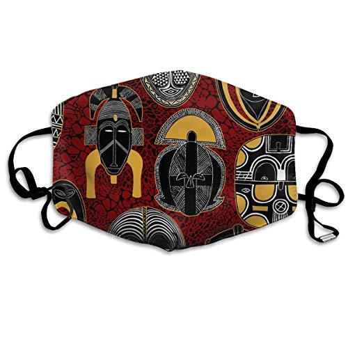 Mundmaske, afrikanische Motive mit Ohrschlaufe, verstellbar, elastisches Band für Malerei im Freien, gegen Keime, Anti-Staub, Atemschutzmaske, Halbmaske