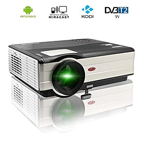 CAIWEI 1080p Wireless Video Projector 4000 Lumens 1024x768 HD Home