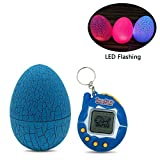 AOLVO elettronico Mini Tamagotchi, 3 in 1 LED Pet Tumbler Pet Egg Dinosaur Virtual Pets Glitter Uova Child Toy Keychain Game Machine – 90S Nostalgic Digital Pet Blue