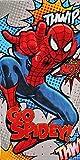 Marvel Disney Serviette de Plage pour Enfants Motif: Spiderman 70x140cm