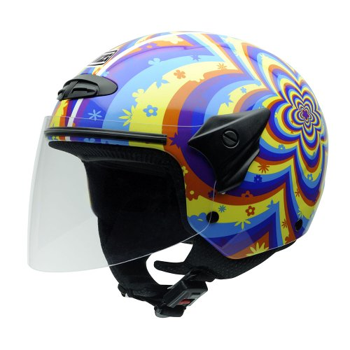 NZI 050017G409 Helix II Junior Motorcycle Helmet, Daisy, Size L