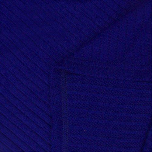 QIYUN.Z Signore Delle Donne Sexy Vestito Dalla Matita Dell'Anca Del Pacchetto Maglione Bodycon V Collo Blu reale
