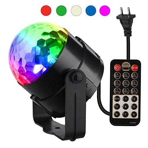 Discokugel , Vive Comb Discokugel LED Disco Lichteffekte Bühnenbeleuchtung für Party, Hochzeit, Weihnachten, Club, Halloween, Bar, Bühne, Schlafzimmer, Kindergeburtstag (mit Fernbedienung)