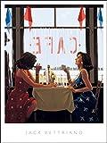 L'AFFICHE ILLUSTREE Jack Vettriano ' Cafe Days' Stampa Artistica in offset cm.40 x 50 codice 374050 COPIA ORIGINALE PRODOTTA DA JACK VETTRIANO Tutte le stampe con testo info dell'opera garanzia di edizione AUTORIZZATA