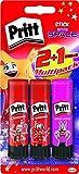 Pritt 9H PBS2B Klebestift (mit buntem Kleber) 3er Set
