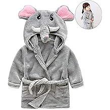 JLSYYCC Albornoz para niños, Albornoz de Elefante y Anime para niños, Franela, Niño