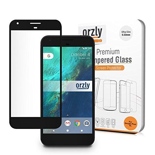 Google Pixel Schutzfolie / Panzerglas [VOLLGLAS], Orzly® 2.5D Pro-Fit Panzerglas [VOLLDISPLAYSCHUTZ] - Tempered Glasfolie / Displayschutzfolie für das Google Pixel (5.0 ZOLL Version - Klein 2016 Modell) - Transparente Glasfolie mit SCHWARZEN Rahmen