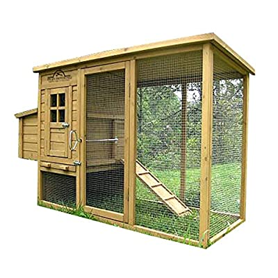 Pets Imperial® Wentworth Large Chicken Coop Hen Ark House Poultry Run Nest Box Rabbit Hutch Suitable For Up To 4 Birds - Integrated Run & Cleaning Tray & Innovative Locking Mechanism by Imperial Poultry