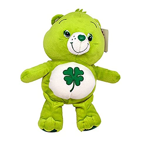 Good Luck Care Bear 12''/16'' Super Soft Teddy Toy Plush Green Four Leaf Clover Serie TV