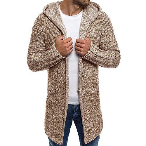 GreatestPAK Herren Sweatshirt Lässige Strickjacke mit Langen Ärmeln für Männer,2XL,Herren