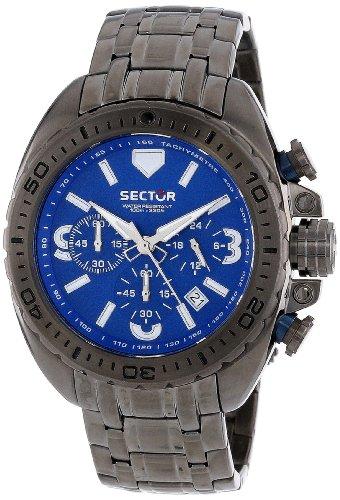 sector r3273573001 - reloj cronógrafo de cuarzo para hombre con correa de acero inoxidable, color plateado