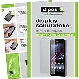 dipos Sony Xperia Z1 Compact Schutzfolie (2 Stück) - Antireflex Premium Folie matt