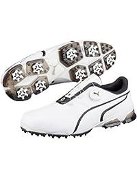 Puma Titan Tour Ignite Disc Golf para hombre Botas hombres Sport Color  Blanco Negro 6d65ae06c2e6e
