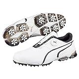 Puma Golf Mens Titantour Ignite Disc Golf Shoes - White/Black - UK 9