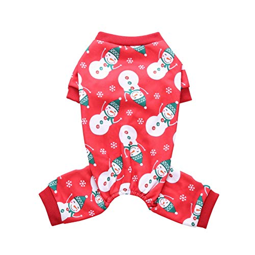 Le yi Wang You San Bodhi® Weihnachts-Kostüm für Hunde und Welpen, Schneemann, - Schneemann Kostüm Für Hunde