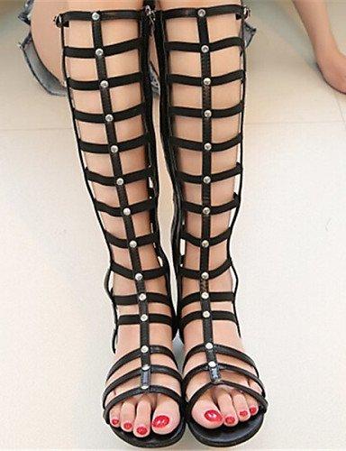 LFNLYX Scarpe Donna - Sandali - Formale - Aperta - Piatto - Finta pelle - Nero Black