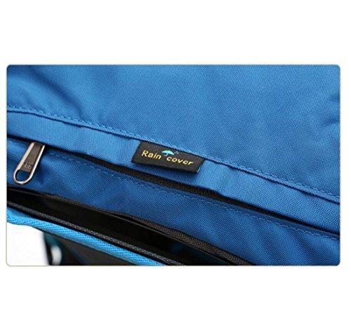 Z&N Hochwertige Wasserdichte Nylon 40L GroßE KapazitäT Reise Wandern Outdoor Bergsteigen Sport Rucksacktouristen Teen College School Taschen Laptop Taschen Daypacks A