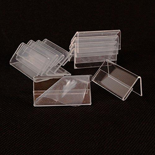Earlywish MINI Affichage du signe 50pcs Porte-cartes Étiquette de prix Étiquette stand 4cm x 2cm