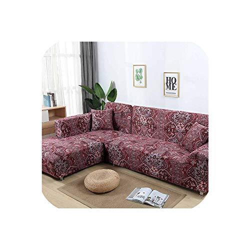 Frühling Lounge-sessel Sitz (Happy Towns Sofahusse, L-förmig, elastisch, Blau, für Wohnzimmer, Copridivano Couch-Bezug, Sofakissenbezüge für Sessel, 1-Sitzer (90-140 cm))