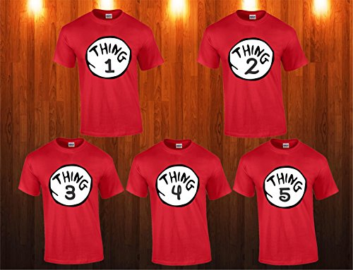 thing 1 and thing 2 t-shirts nice cute Dr Seuss new kids adults any number (5 T, THING 3) by Trust Custom