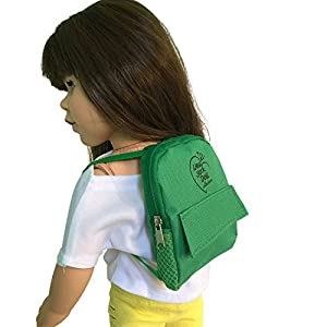 The New York Doll Collection Mochila Green Doll para muñecas de 45 cm (D261-G)